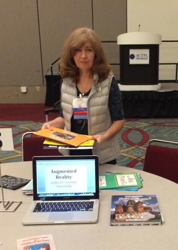 Janna Lelchuk preparing to present at ACTFL 2016